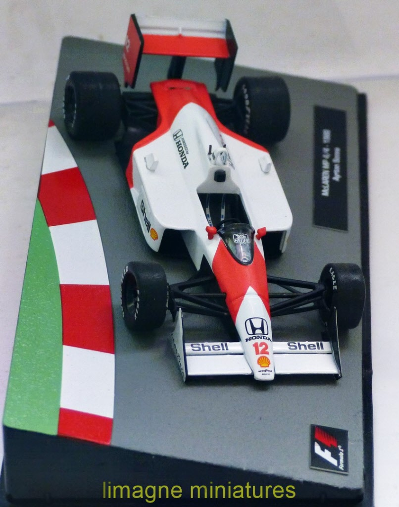 Miniature Formule 1 Altaya IXO Auto Voiture F1 McLaren MP 4//4 Ayrton SENNA 1988