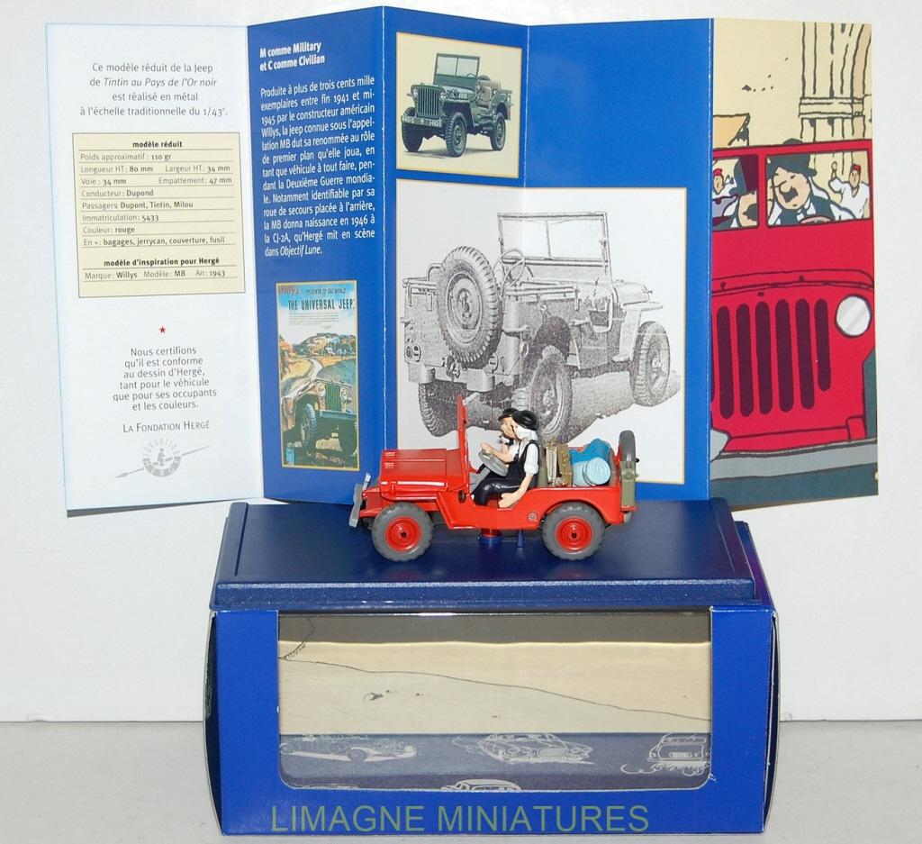 ATLAS MILITARY VOITURE JEEP WILLYS MB 1943 HERGE TINTIN AU PAYS DE L'OR NOIR BOX Strips Boeken, strips, tijdschriften